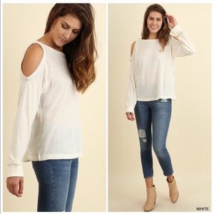 Cold Shoulder Blouse Long Sleeve S/M/L NEW